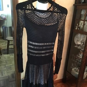 Catherine Malandrino NWT Black Knit Dress Size 40